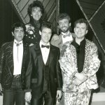 (L-R) Billy Burnette, Marty Stuart, Randy Travis, Keith Whitley and T. Graham Brown, 1986