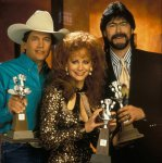 (L-R) George Strait, Reba McEntire and Randy Owen, 1993