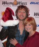 "Janet M. - San DIego, CA - ""This picture of Dierks Bentley & myself was taken December, 2010 in Lake Elsinore, California - Santa's Got a Brand New Elf."""