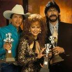 (L-R) George Strait, Reba McEntire and Randy Owen, 1993