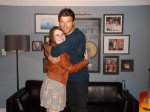 "Sara W. - Talladega, AL - ""Hugging it out with Brett in Birmingham, AL! :)"""