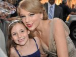 "Terri P. - White House, TN - ""Taylor and my 6 year old daughter Juliana! After going to both of the Speak Now concerts that weekend at Bridgestone... Juliana was SO excited to get to meet Taylor at the ACM  Honors red carpet!!"""